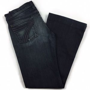 ••• 7 For All Mankind • DARK Wash Flare Leg Jeans